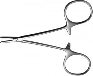 З-8Зажим к/о глазной, прямой с зубом, 84 мм